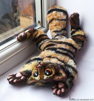 Custom Wildcat Tiger plush SOLD .. by Sovriin