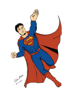 Superman Reaching by WibbitGuy