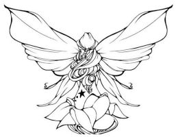 Moths Are Pretty Too Line Art by UGLITRY