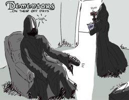 Dementors on their off days by Duomi