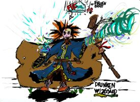 Drunken Wizard by MightyMage2