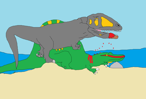 End of the Spinosaurus by koopalings98