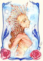 Lion Fish Lady by GisaPizzatto