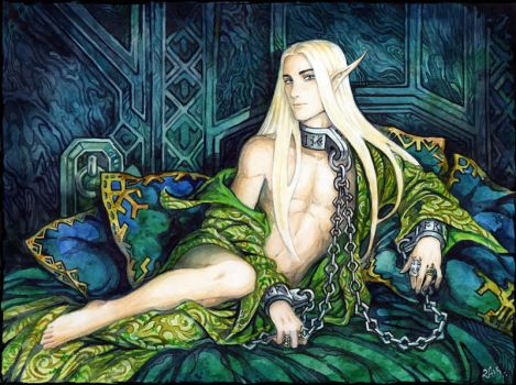 Cuffs and collar for a King by Candra