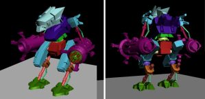3d Robot WIP by maneco