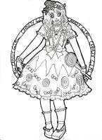 Candy Girl Lineart by Miss-Chili