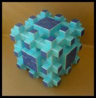 Anti-Menger Sponge - level two by lonely--soldier