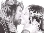 Aragorn and Arwen by BLena