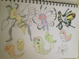 Pokemon Bug type 1 by Necrophilliacness
