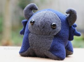Blue Mini-Gumdrop Dragon Plush by MyBeautifulMonsters