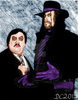 Paul Bearer and The Undertaker by David-c2011