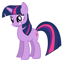 Twilight Sparkle Grins by SpikesMustache