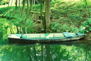Boat on the Creek by erce