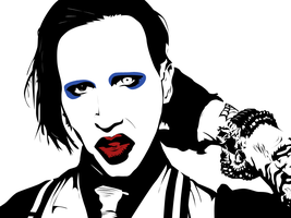 Marilyn Manson Vector by kevin2407