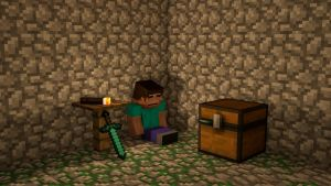 Minecraft 3D big day by Alz512