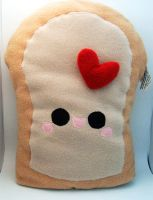 Love Bread Plush Pillow by quacked