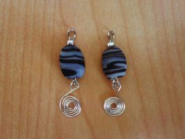 stone spiral earrings by syn-O-nyms