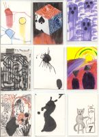 Artist Trading Cards by naknak
