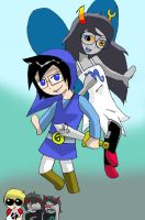 Vriska and John: do something silly by Dialirvi