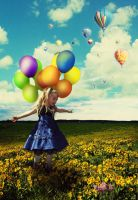Flyin with balloons by goody-2-shoes