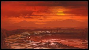 Searing Gorge - Speed Painting by Wolfgan