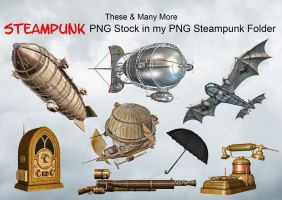 These And Many More In My PNG Steampunk Stock  by Roys-Art