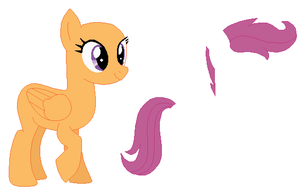 Adult Scootaloo Base by SelenaEde