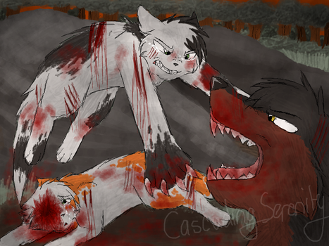I won't let you hurt her! by CascadingSerenity