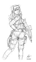 Female soldier 03 by Auzzymo