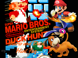 Mario and Duck Hunt Fan Poster by RamosisMario89