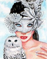 Owl Masquerade by karenspencer