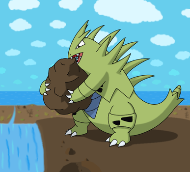 Tyranitar Noms by Shquiggles