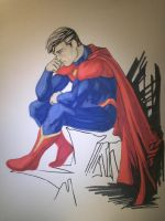 Superman by CrazyBluePsychopath