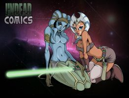 Aayla Secura and Ahsoka Tano by UndeadComics