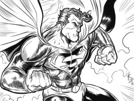 Superman Action Sketch by ElvinHernandez