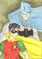 Batman and Robin Sketch Card 2 by wheels9696