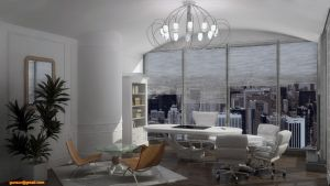 Art Deco Greco Roman Office by 1zmim