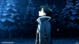 Kirigaya Kazuto [Kirito] Snow Wallpaper by TheNovaDivine