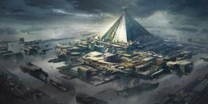 Game of thrones redesign - Mereen Spaceport by Tryingtofly