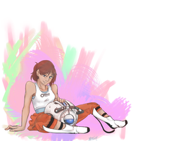 Chell and Wheatley by kessi-san