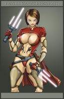 Rayleena, Jedi Knight by mmbretweir