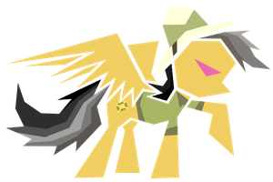 Polygonal - Daring Do by flamevulture17