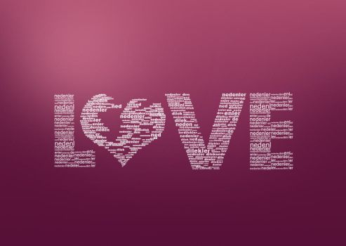 Love Typo by onurkacmaz