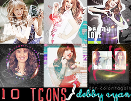 Debby Ryan 100x100 icons (10) by ann-coloritagain
