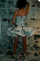 newspaper dress by CharlotteHemingway