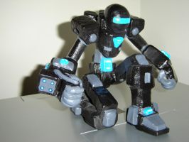 Robot Sculpture by Gold-Paladin