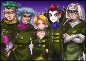 An unsual team by Berylunee