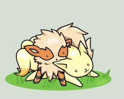 Arcanine and Ninetales by Valen-chan
