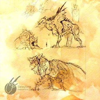 Creature Sketches by Seleylone