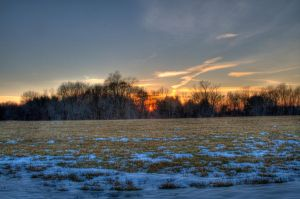 Winter Sunset by butterphoto